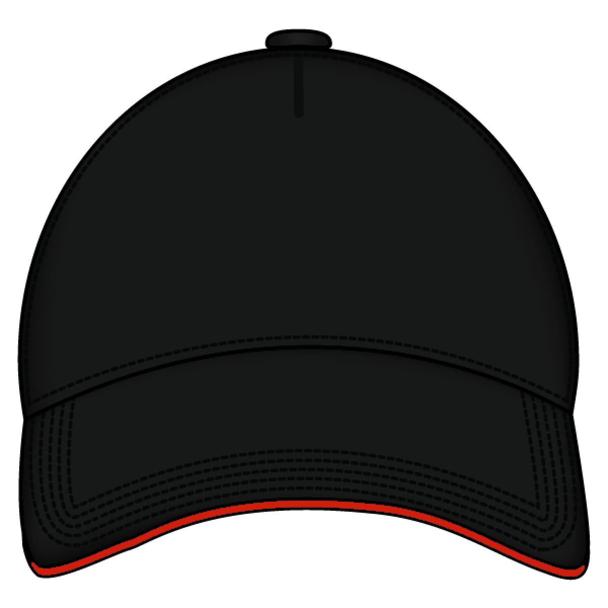 c75da78cfa0661 ... Baseball Cap Line Art - Free Clip Art. Cap Black Front - Caps PNG Black  And White