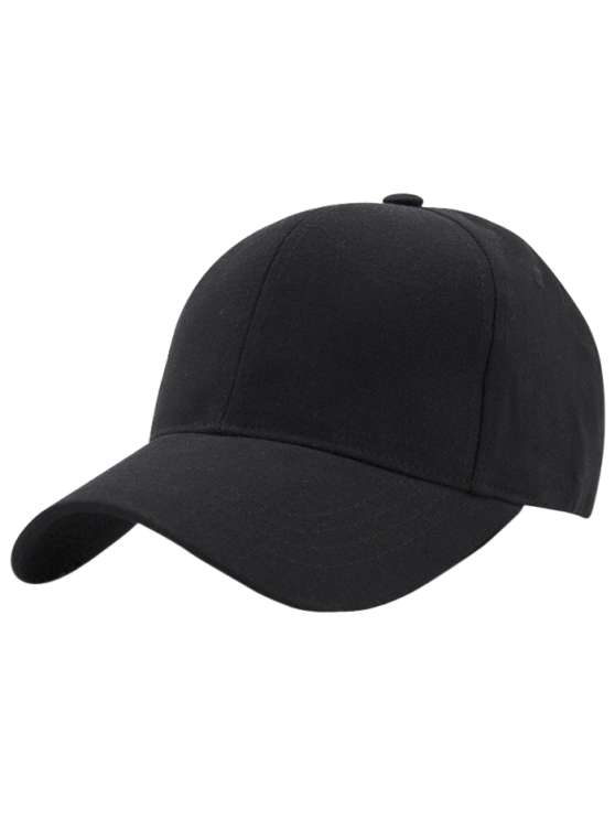 outfits Hot Sale Adjustable Outdoor Pure Color Baseball Cap - BLACK