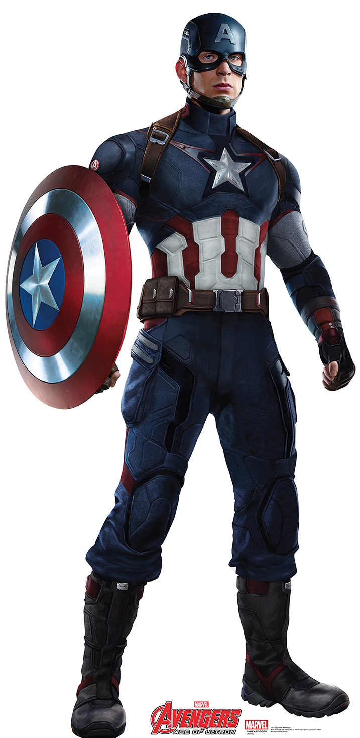 CaptainAmerica-001-AvengersAOU.png - Captain America PNG