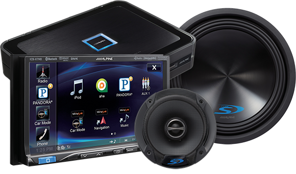 Alpine Car Audio - Car Audio PNG