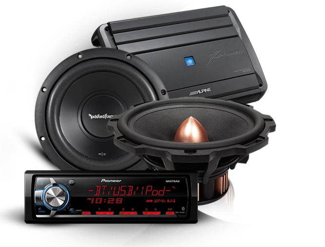 Best Authorized Dealer for Top Brands - Car Audio PNG