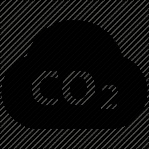 carbon cloud, cloud, co2 emission, co2 formula, dioxide, ecology waste icon - Car Emission PNG