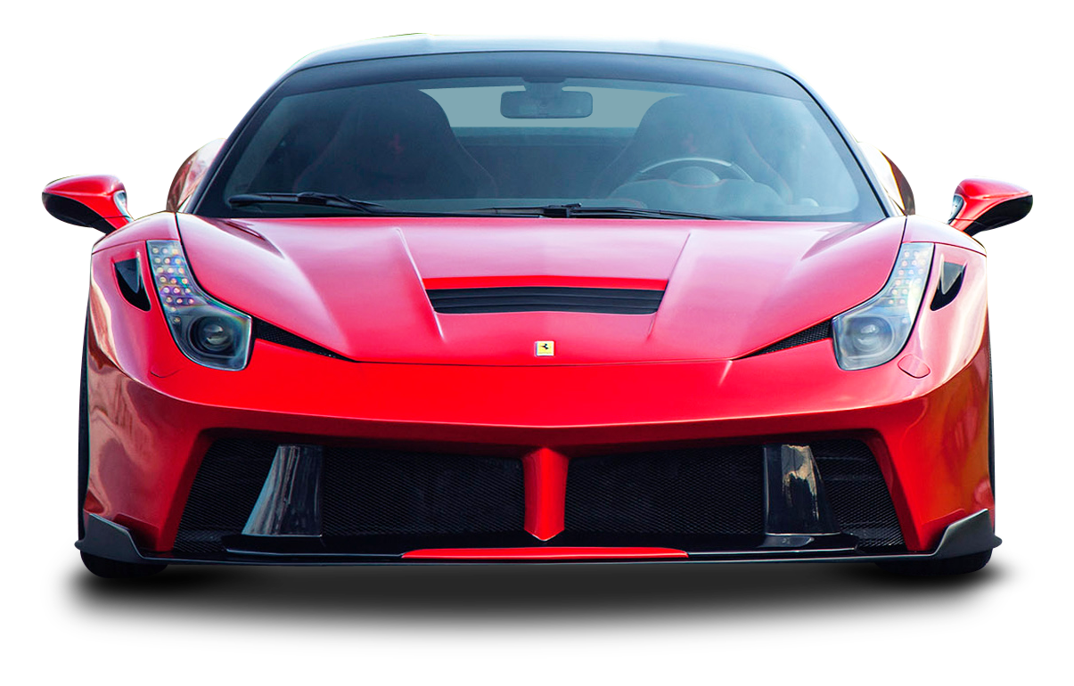 Red Ferrari 458 Italia Sports Car PNG Image