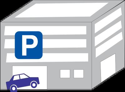 Urban: Parking Garage Illustration Of A Multi-story Parking Garage With A  Car Entering - Car Parking Lot PNG