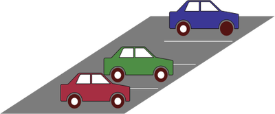 Urban: parking lot Illustration of a parking lot with several cars (side  view) - Car Parking Lot PNG