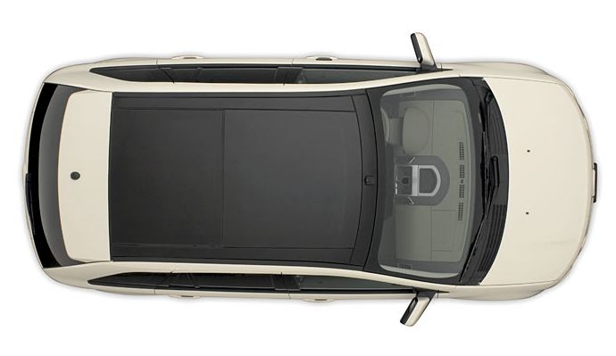 Hatchback car top view