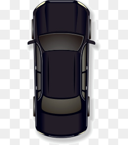 Vector cartoon black car top