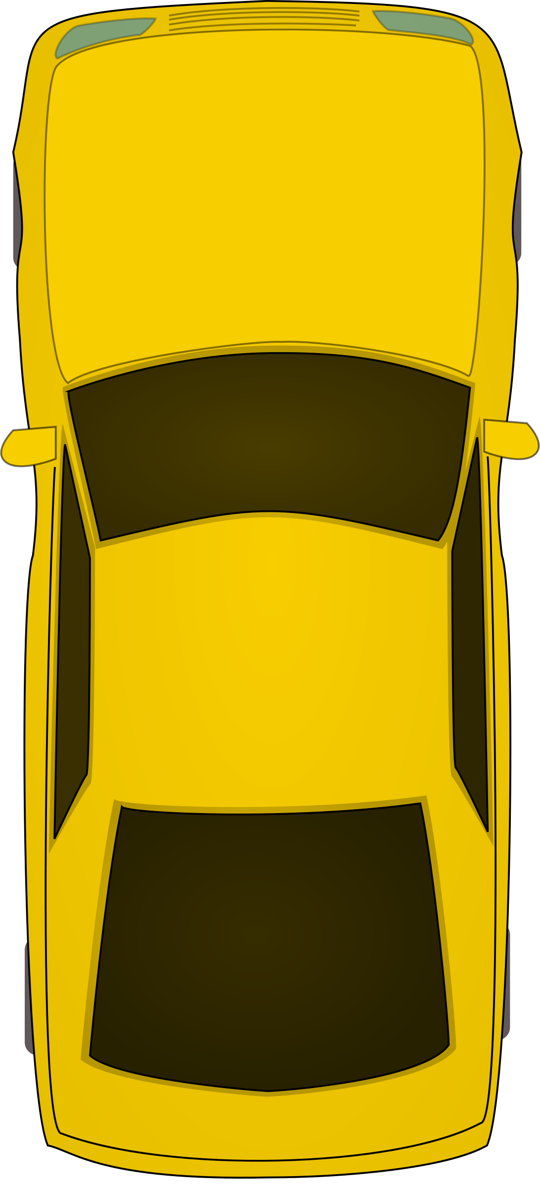 Hatchback Car Top View PNG Clipart - Car PNG Top View Png