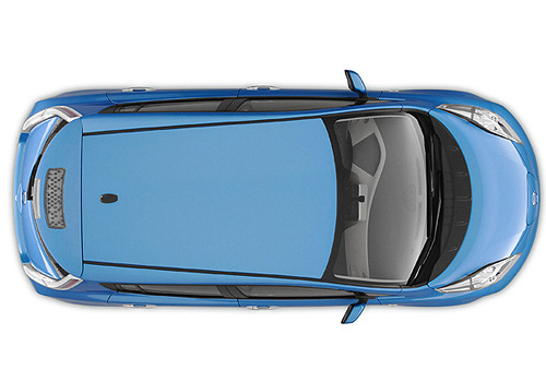 . PlusPng.com nissan-leaf-top-view. - Car PNG Top View Png