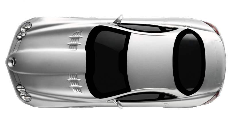 White Mercedes Benz Top Car Png Image #34860 - Car PNG Top View Png
