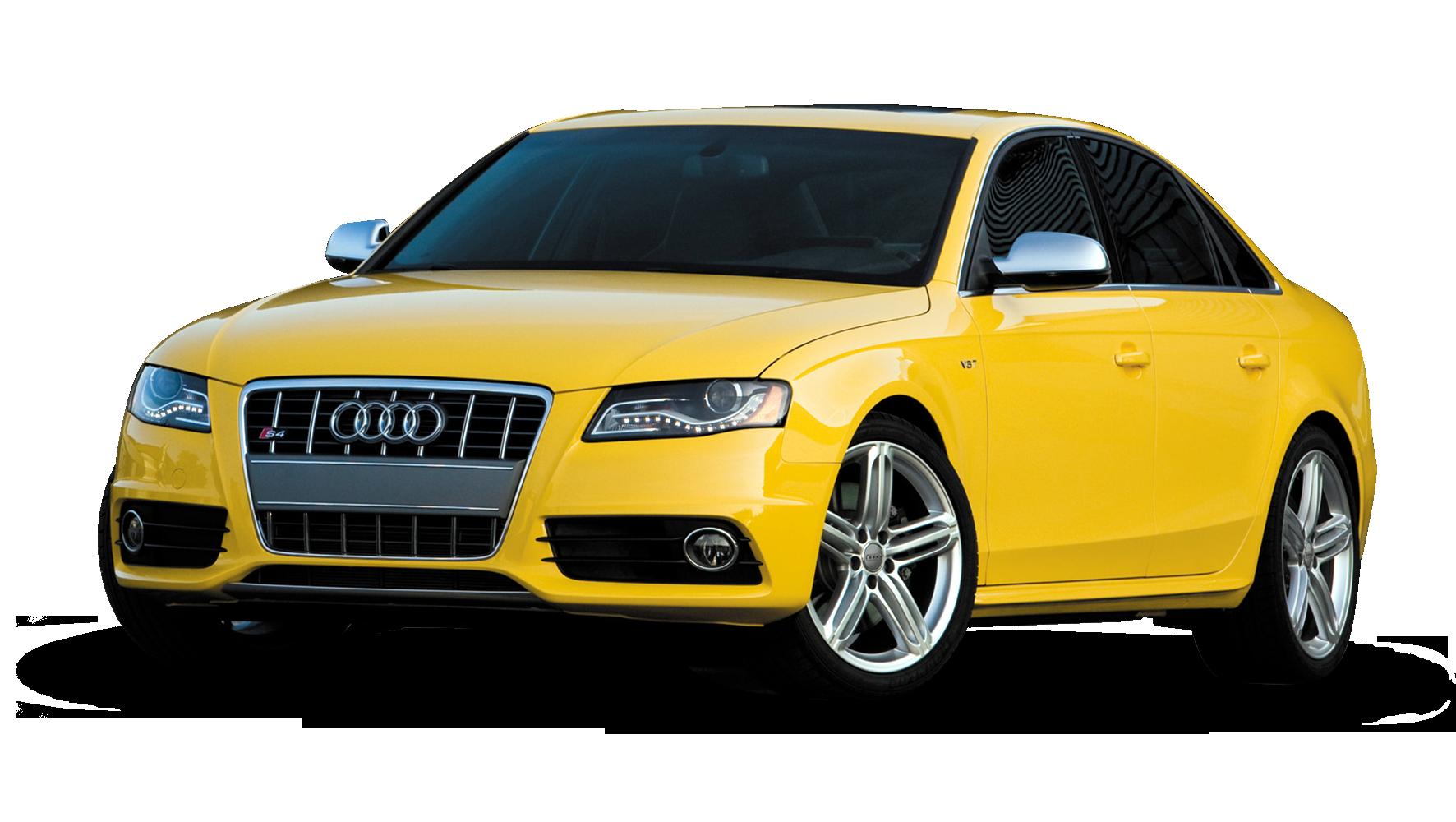 Yellow Audi Car PNG image