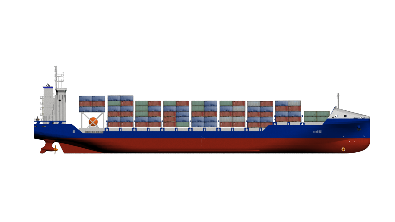 CONTAINER SHIP 900 - Cargo Ship PNG HD
