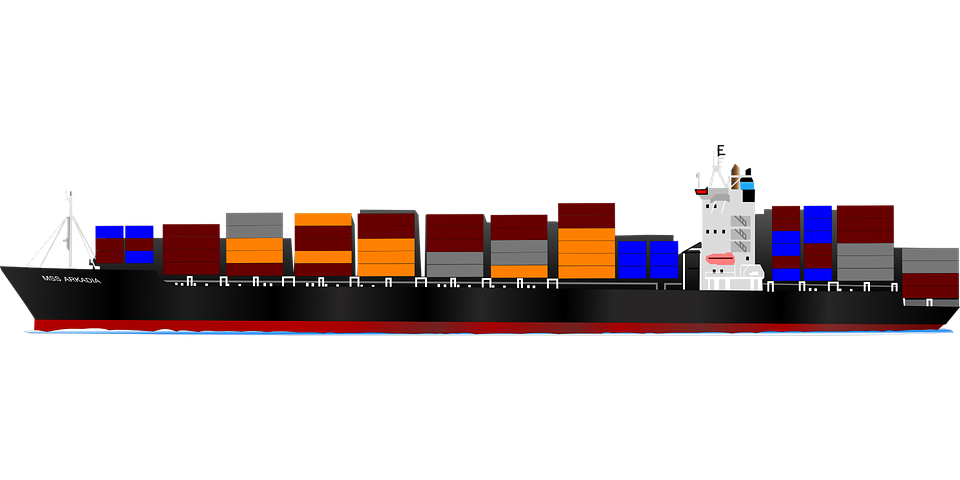 Container, Ship, Vessel, Boat, Transport - Cargo Ship PNG HD