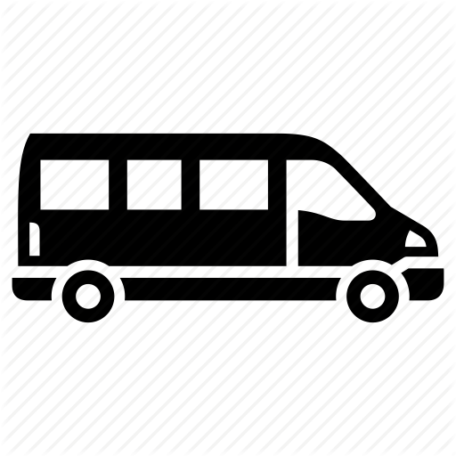cargo truck, cargo van, delivery, mini bus, mini van icon