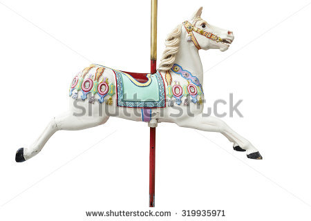A classic carousel horse. Clipping path included. - Carousel Horse PNG HD