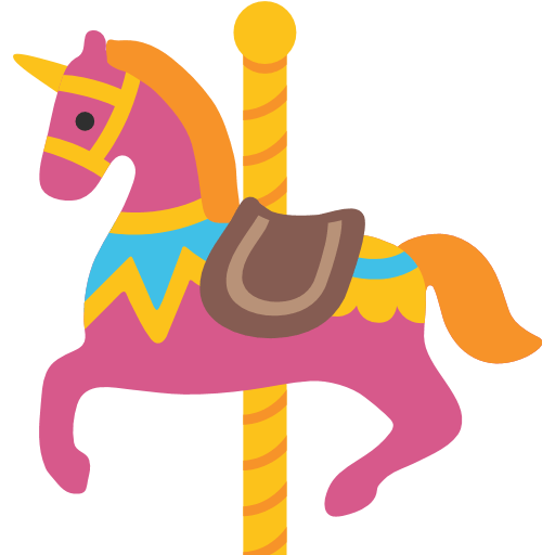 Carousel Horse Emoji - Carousel Horse PNG HD
