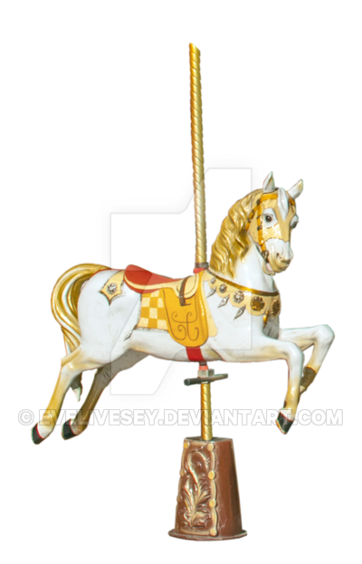 Carousel Horse PNG by EveLivesey PlusPng.com  - Carousel Horse PNG HD