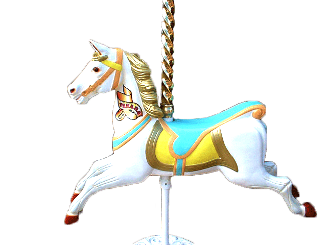 Carousel Horse with Pole and Stand Hire - Carousel Horse PNG HD