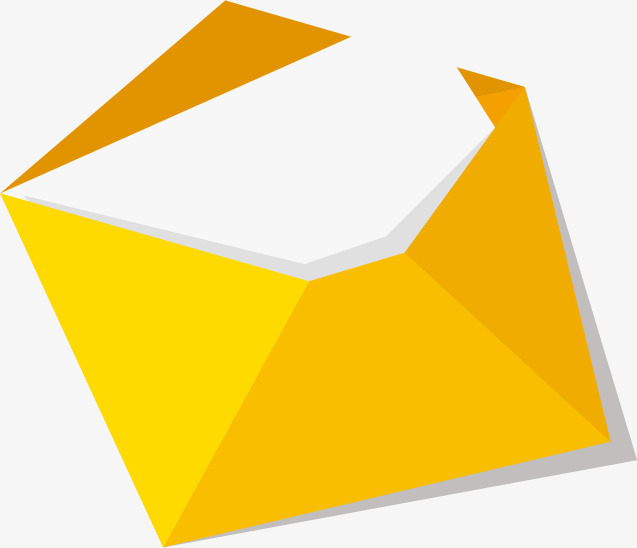 Open Envelope, Envelope, Yellow, Letter PNG And Vector - Carta PNG