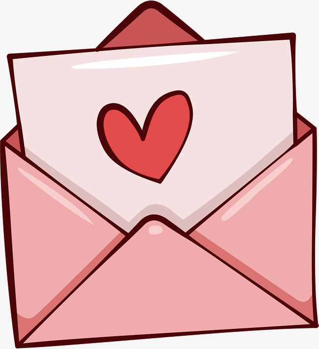 Pink Romantic Love Letter, Vector Png, Love Letter, Pink Love Letter PNG And - Carta PNG