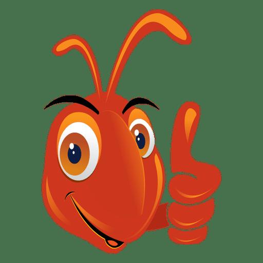 Ant thumbs up cartoon Transparent PNG - Cartoon Ant PNG