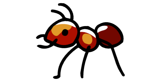 Fire Ant.png - Cartoon Ant PNG