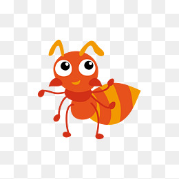 orange ants, Orange, Yellow, Ant PNG and Vector - Cartoon Ant PNG