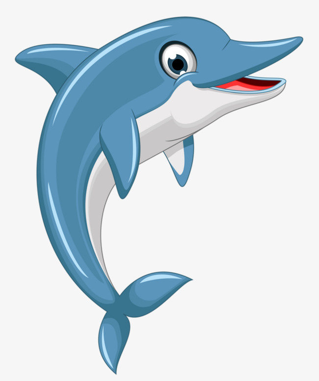 Cartoon Dolphin PNG HD - 124597