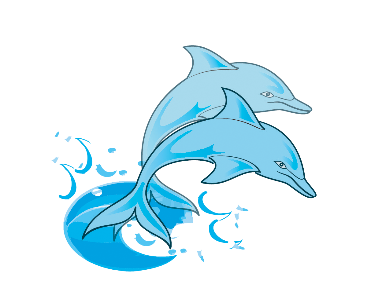 Cute Baby Dolphin Clipart | Clipart library - Free Clipart Images - Cartoon Dolphin PNG HD
