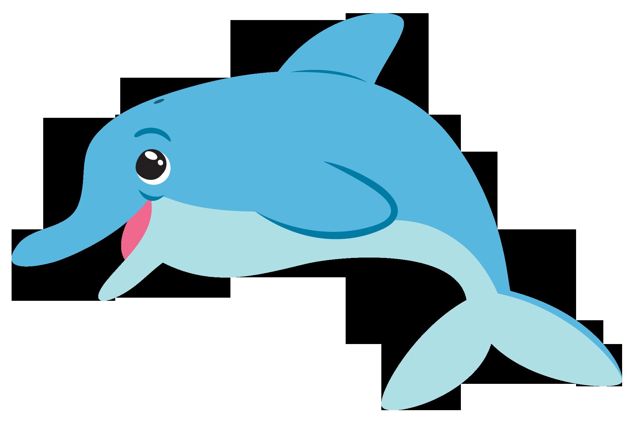 Dolphin - Cartoon Dolphin PNG HD