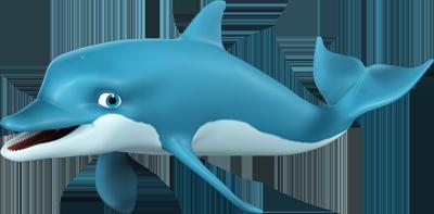 Cartoon Dolphin PNG HD - 124604