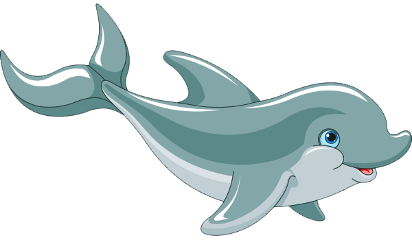 Cartoon Dolphin PNG HD - 124591