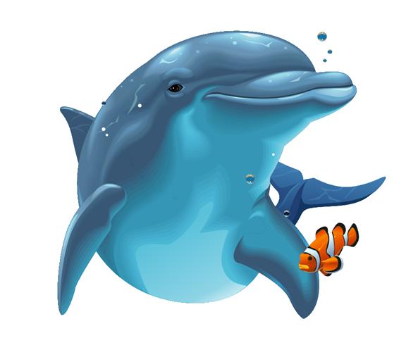 Cartoon Dolphin PNG HD - 124601