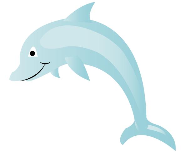 Free Dolphin Vector Art | 123Freevectors - Cartoon Dolphin PNG HD