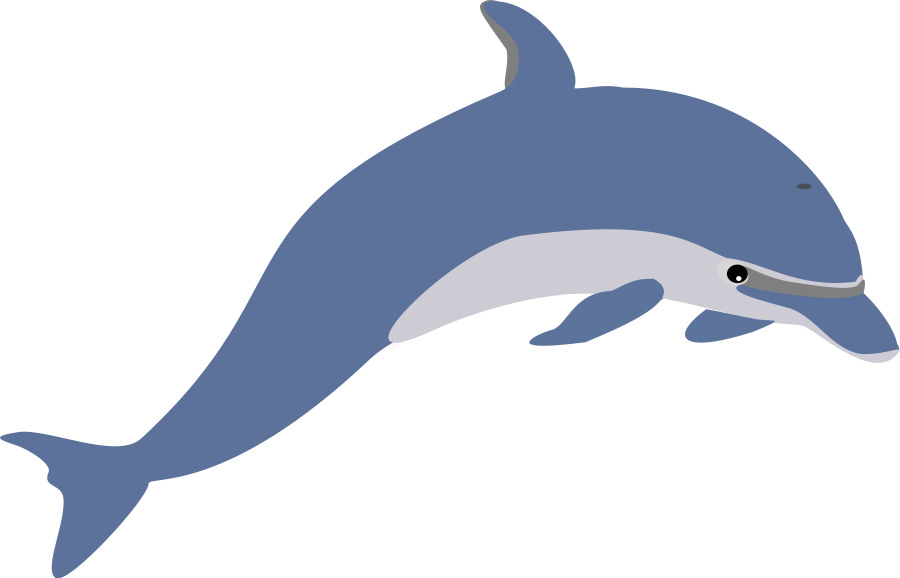 Jumping Dolphin Clip Art - Cartoon Dolphin PNG HD