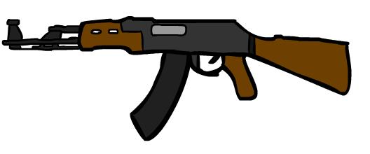 Ak-47.png - Cartoon Gun PNG