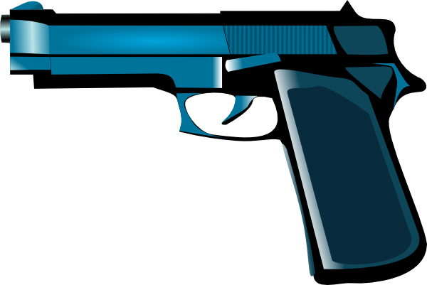 Blue Gun Clip Art at Clker pluspng.com - vector clip art online, royalty free u0026  public domain - Cartoon Gun PNG