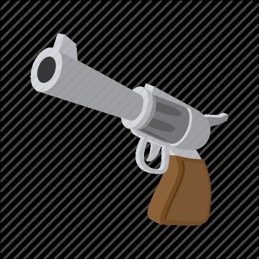 cartoon, gun, handgun, pistol, revolver, war, weapon icon - Cartoon Gun PNG