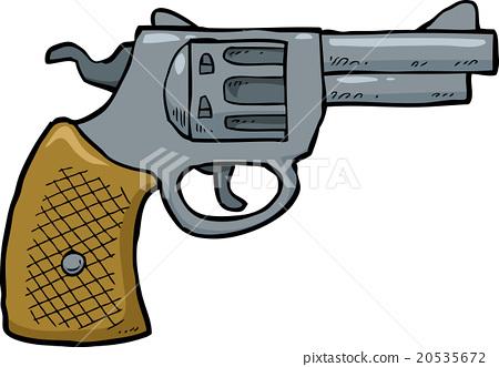 Cartoon revolver gun - Cartoon Gun PNG