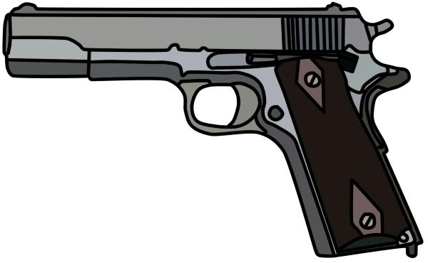 Colt M1911 by WhellerNG PlusPng.com  - Cartoon Gun PNG
