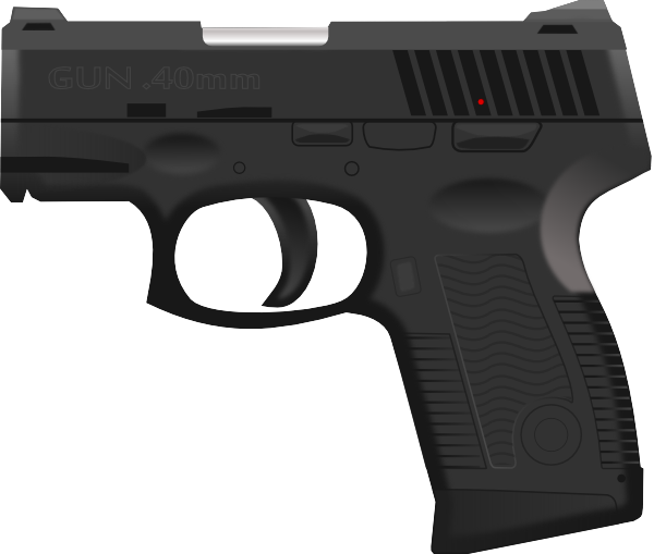 Download this image as: - Cartoon Gun PNG