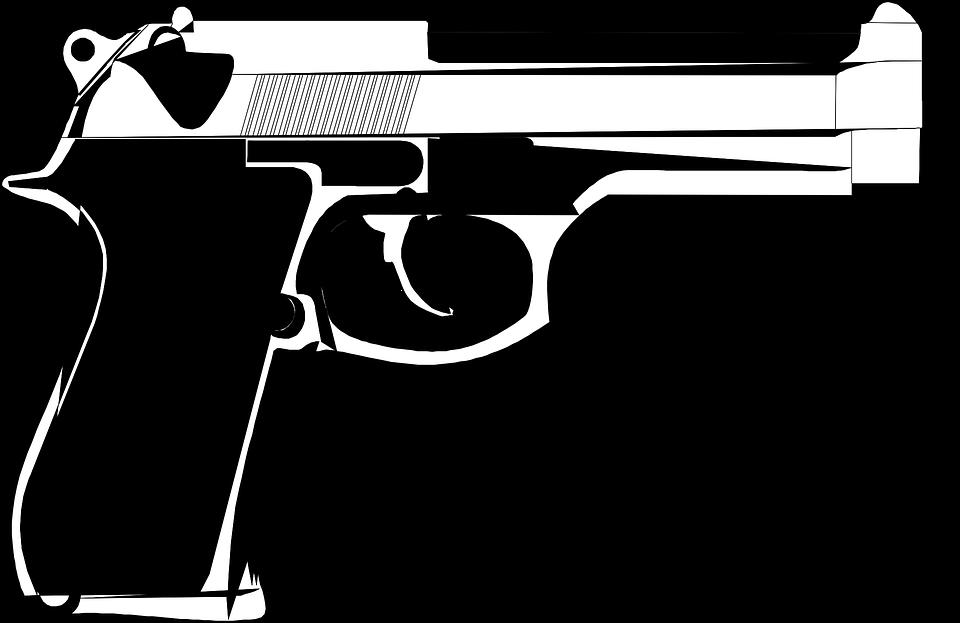 handgun pistol weapon revolver gun american - Cartoon Gun PNG