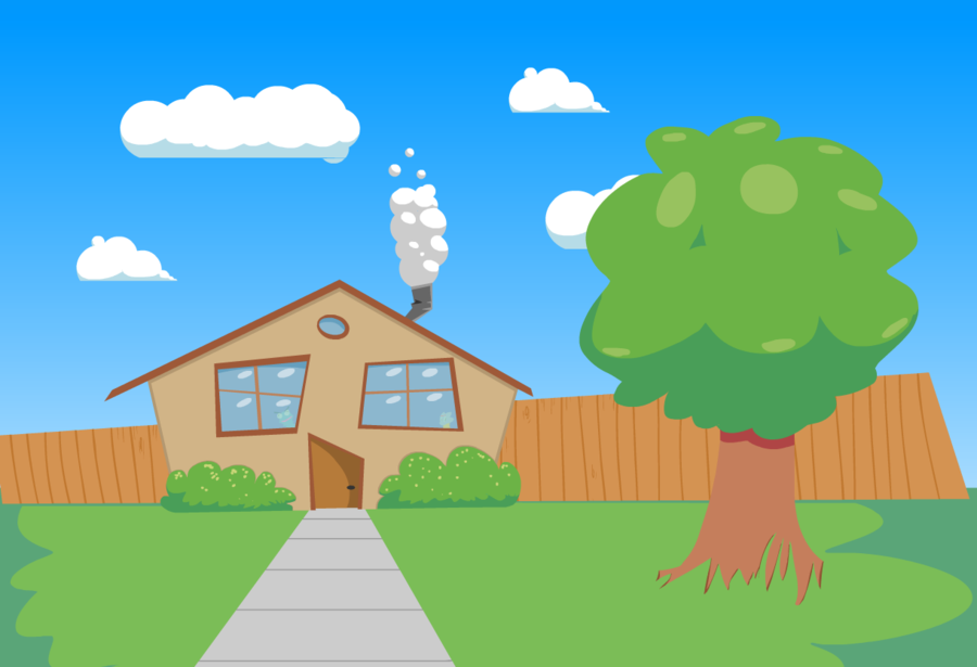 Cartoon Background by Masso PlusPng.com  - Cartoon Houses PNG HD