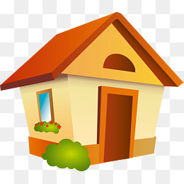 House png vector element, House Vector, Cartoon, Green Grass PNG and Vector - Cartoon Houses PNG HD