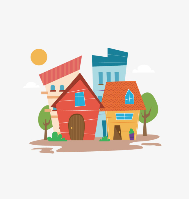Vector house, HD Photo, Vector Material, PNG Free Material Free PNG and  Vector - Cartoon Houses PNG HD