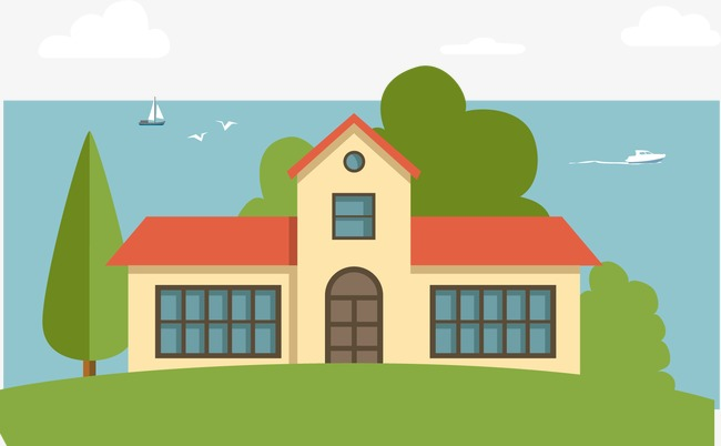 Vector seaside villa, HD, Vector, House Free PNG and Vector - Cartoon Houses PNG HD