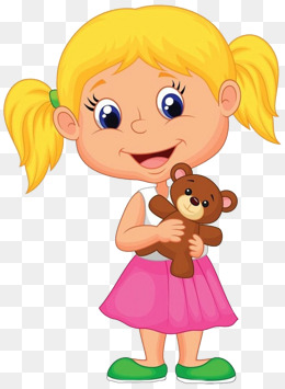 A smiling little girl, The Little Girl Smiled Happily, Laugh Happily, Kid  Laugh - Cartoon Kid PNG