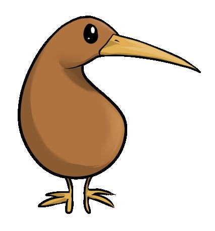 Cartoon Kiwi Bird PNG - 89030