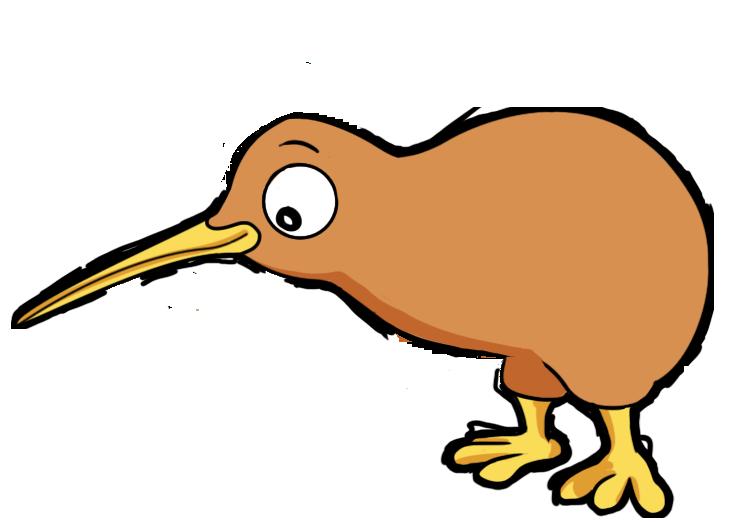 Cartoon Kiwi Bird PNG - 89029