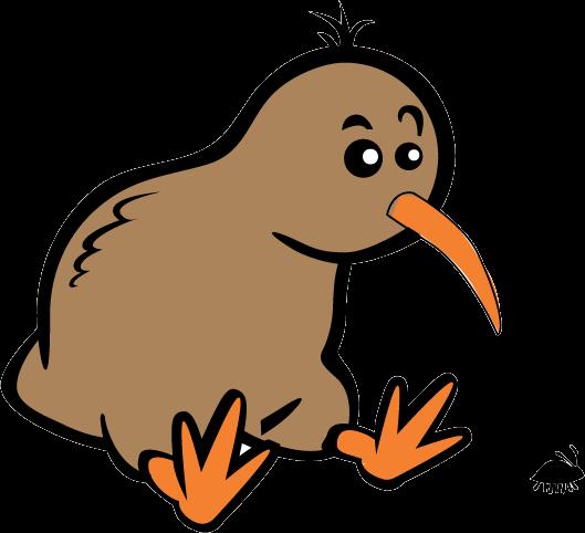 Cartoon Kiwi Bird PNG - 89039